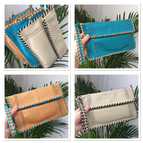 Leather Fold Clutch