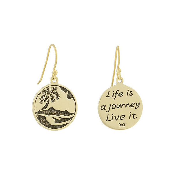 Life Journey/Palm Tree Earrings