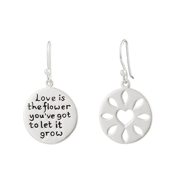 Heart & Flower Earrings