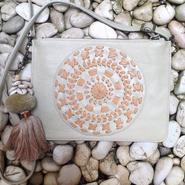 Mandala Weave Leather Bag