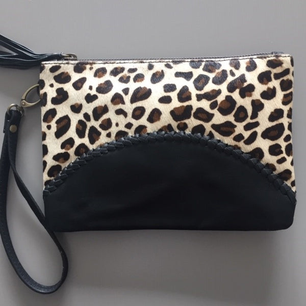 Leather & Cowhide Clutch Bag