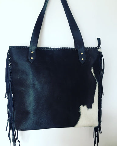 Black & White Cowhide Bag
