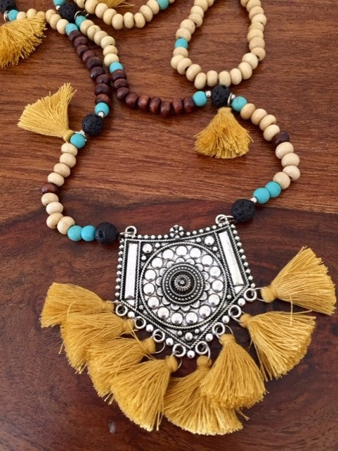 African Vibe Tassel Necklace