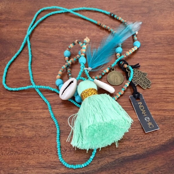 Feather & Tassel Colour Pop Beads