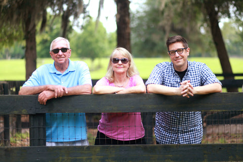 Aloha Eyes founders LLoyd Carnes, Lisa Carnes and Mitch Carnes.
