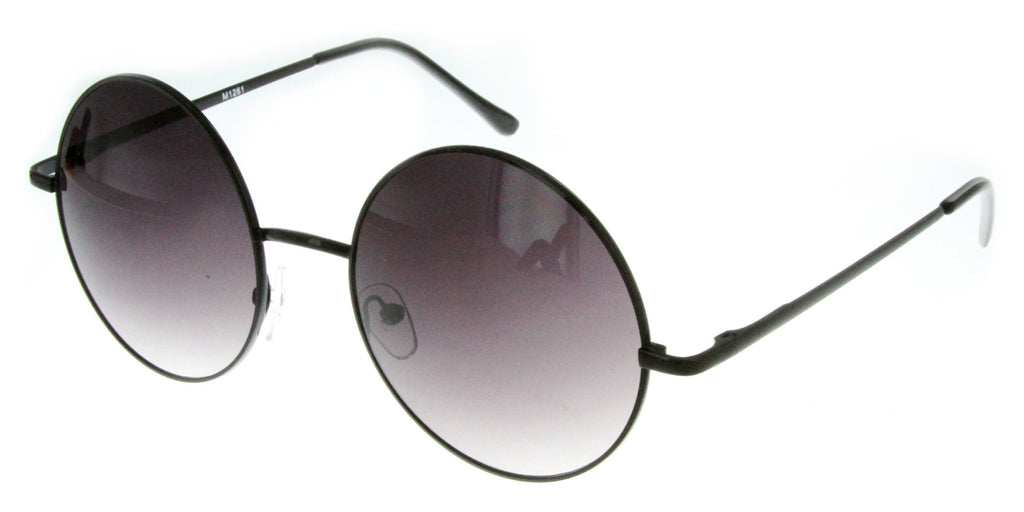 """Evelyn"" Women's Designer Retro Round Sunglasses with Mirror Lens - Aloha Eyes - 1"