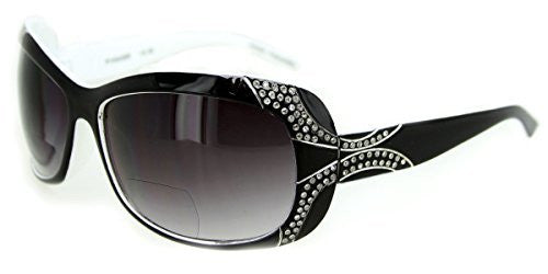 """Angelina"" Fashion Bifocal Sunglasses with Crystals for Trendy, Youthful Women - Aloha Eyes - 2"