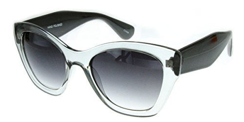 """Crystal Queen"" Women's Translucent Cateye Designer Inspired Fashion Sunglasses - Aloha Eyes - 5"