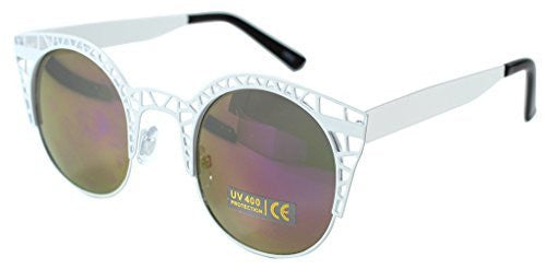 """Eiffel Tower"" Women's Cateye Metal Mesh Fashion Designer-Inspired Sunglasses - Aloha Eyes - 4"