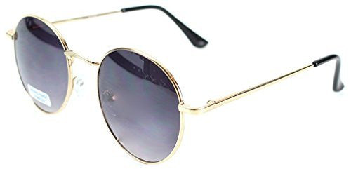"""Ava"" Round Designer Inspired Fashion Sunglasses with Spring Hinges for Women - Aloha Eyes - 3"