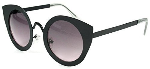 """Milo"" Women's Designer Retro Round Cateye Sunglasses with Mirror Lens - Aloha Eyes - 3"