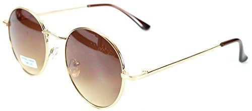 """Ava"" Round Designer Inspired Fashion Sunglasses with Spring Hinges for Women - Aloha Eyes - 2"