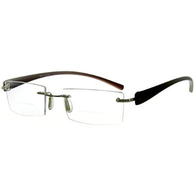 """American Woman DX"" Slim, Semi-Rimless Bifocal Reading Glasses for Stylish Women - Aloha Eyes - 3"