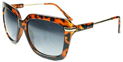 """Leah"" Oversized Square Designer Inspired Fashion Sunglasses for Women - Aloha Eyes - 1"