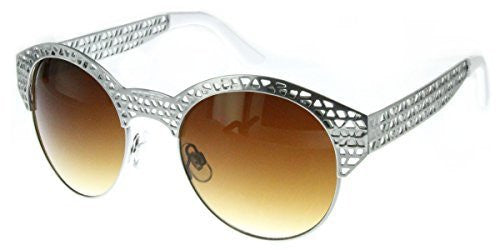 """City Bridge"" Women's Edgy Metal Cutout Designer Fashion Sunglasses - Aloha Eyes - 2"