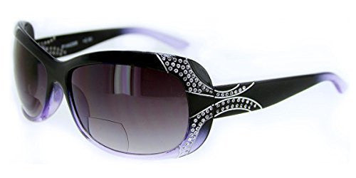 """Angelina"" Fashion Bifocal Sunglasses with Crystals for Trendy, Youthful Women - Aloha Eyes - 3"