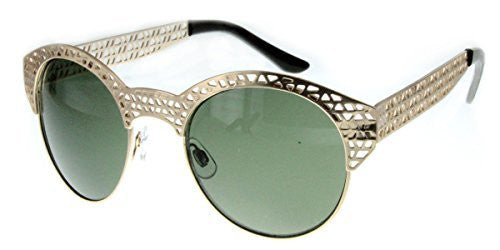 """City Bridge"" Women's Edgy Metal Cutout Designer Fashion Sunglasses - Aloha Eyes - 4"