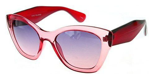 """Crystal Queen"" Women's Translucent Cateye Designer Inspired Fashion Sunglasses - Aloha Eyes - 6"