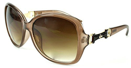 """Derby"" Oversized Fashion Sunglasses with Buckle Embellishment for Stylish Women - Aloha Eyes - 4"
