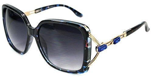 """Sea Castle"" Fashion Sunglasses with Crystal and Bamboo Embellishments for Women - Aloha Eyes - 3"