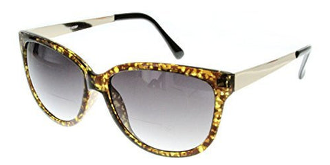 """Faux Paw"" Women's Designer Inspired Cateye Fashion ""Inner""Bifocal Sunglasses - Aloha Eyes - 1"
