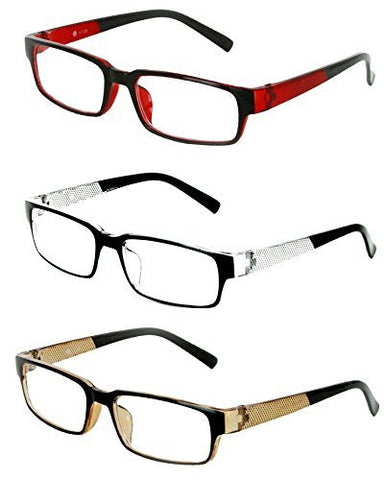 "Aloha Eyewear ""DPI"" Rectangle 52mm Readers, Ultra-Modern (pack of 3, 6, 9, or 12)"