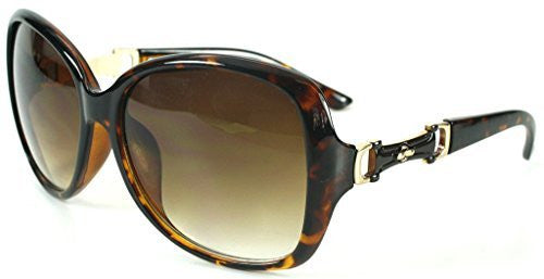 """Derby"" Oversized Fashion Sunglasses with Buckle Embellishment for Stylish Women - Aloha Eyes - 5"