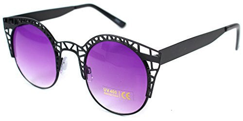 """Eiffel Tower"" Women's Cateye Metal Mesh Fashion Designer-Inspired Sunglasses - Aloha Eyes - 1"