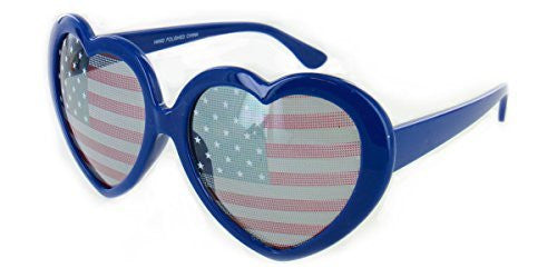 """Heart of America"" Women's Heart Shaped Flag Sunglasses - Aloha Eyes - 2"