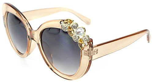 """Tiara"" Jewel Encrusted Designer Inspired Fashion Sunglasses for Stylish Women - Aloha Eyes - 2"