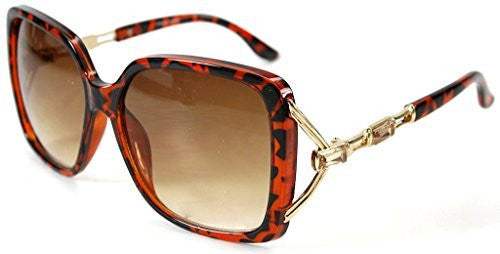 """Sea Castle"" Fashion Sunglasses with Crystal and Bamboo Embellishments for Women - Aloha Eyes - 1"