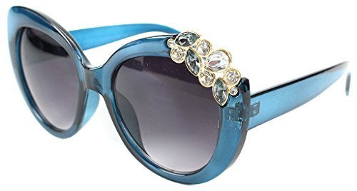 """Tiara"" Jewel Encrusted Designer Inspired Fashion Sunglasses for Stylish Women - Aloha Eyes - 1"