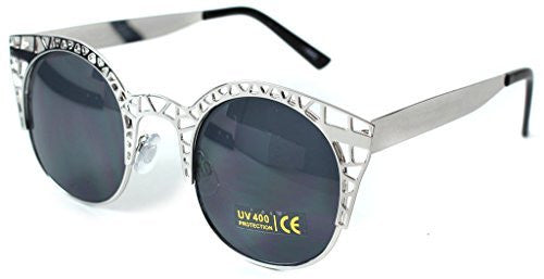 """Eiffel Tower"" Women's Cateye Metal Mesh Fashion Designer-Inspired Sunglasses - Aloha Eyes - 3"