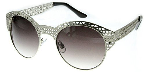 """City Bridge"" Women's Edgy Metal Cutout Designer Fashion Sunglasses - Aloha Eyes - 3"