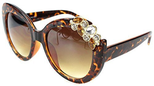 """Tiara"" Jewel Encrusted Designer Inspired Fashion Sunglasses for Stylish Women - Aloha Eyes - 3"