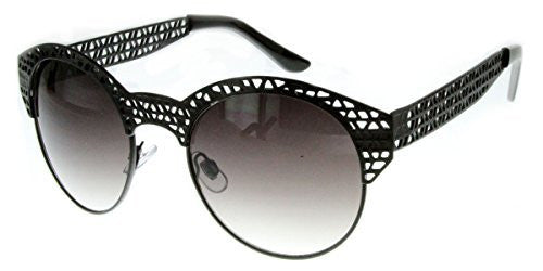 """City Bridge"" Women's Edgy Metal Cutout Designer Fashion Sunglasses - Aloha Eyes - 5"