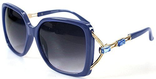 """Sea Castle"" Fashion Sunglasses with Crystal and Bamboo Embellishments for Women - Aloha Eyes - 2"