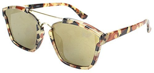 """Central Park"" Women's Designer Wayfarer Sunglasses with Flat Mirror Lens - Aloha Eyes - 3"