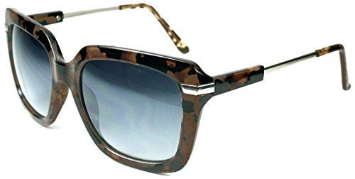 """Leah"" Oversized Square Designer Inspired Fashion Sunglasses for Women - Aloha Eyes - 4"