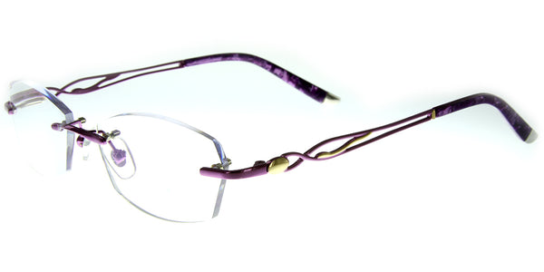 Aloha Eyewear Tek Spex 3001 Women's Progressive No-Line Rimless Computer Reading Glasses with Blue Light Blocking Lens