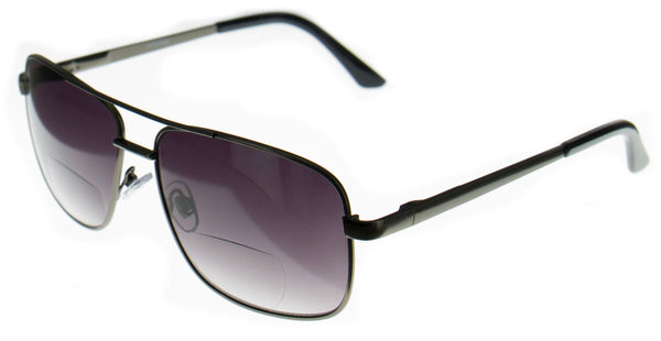 "Aloha Eyewear ""Arroyo"" Men's Aviator Bifocal Reader Sunglasses"