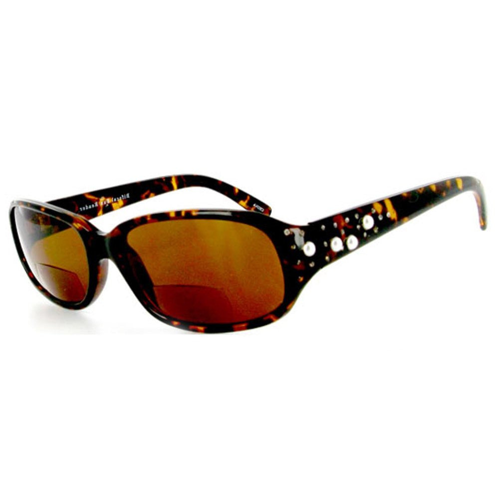 """Diamonds and Pearls"" designer bifocal sunglasses 53mm x 18mm x 135mm - Aloha Eyes - 2"