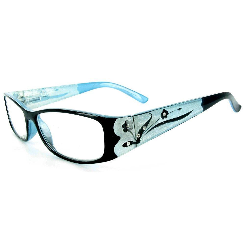 """Tiffany's Garden"" Designer Floral Reading Glasses - Aloha Eyes - 6"