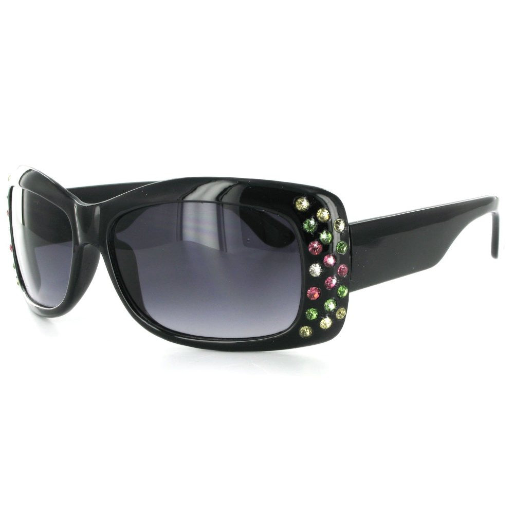 """Broadway 7384"" Women's Fashion Sunglasses with Colorful Austrian Crystals - Aloha Eyes - 4"