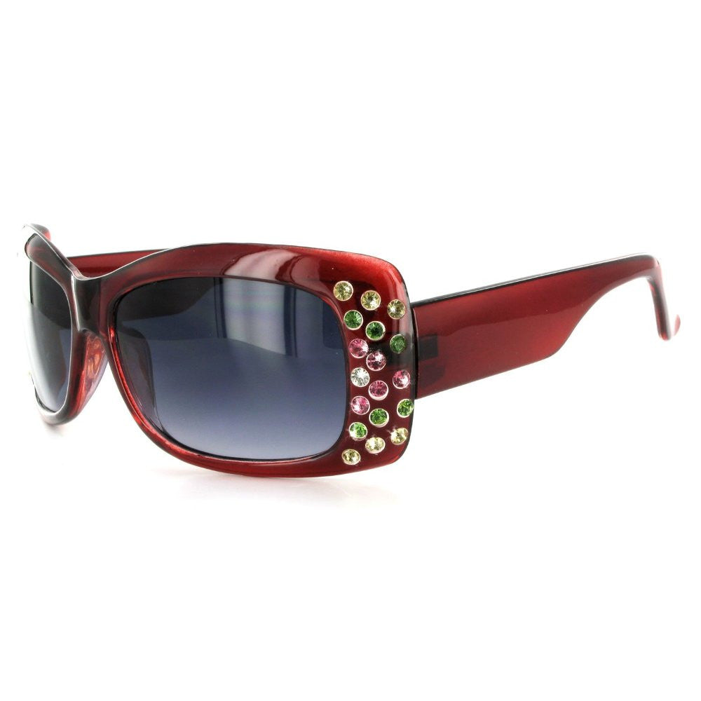 """Broadway 7384"" Women's Fashion Sunglasses with Colorful Austrian Crystals - Aloha Eyes - 3"