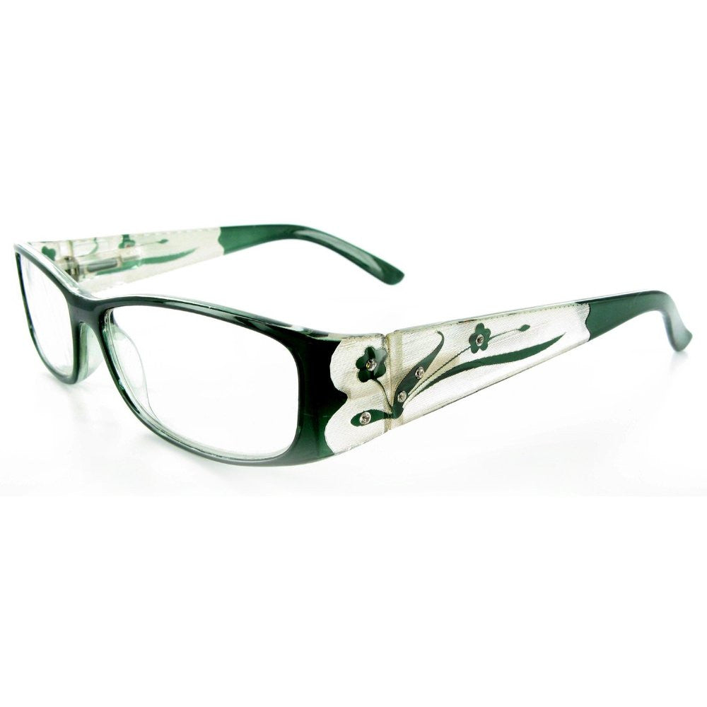 """Tiffany's Garden"" Designer Floral Reading Glasses - Aloha Eyes - 7"