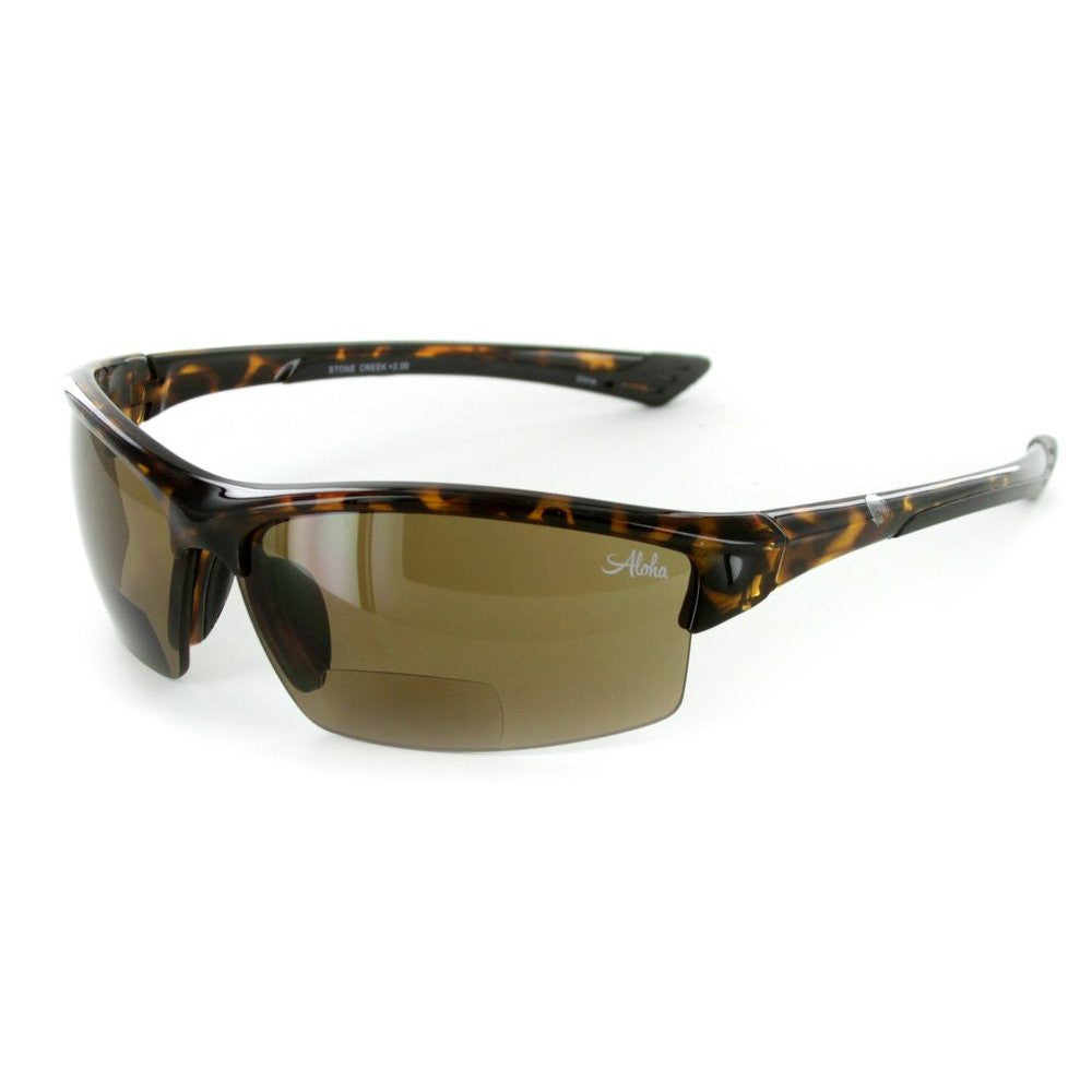 """Stone Creek® MX1"" Men's Wrap-Around Bifocal Reading Sunglasses, Our Best-Selling Item of All Time - Aloha Eyes - 4"