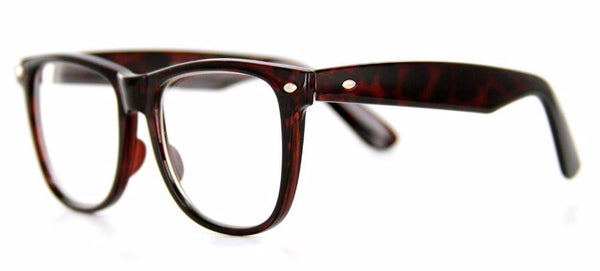 """Old Schools"" Fashion Retro Wayfarer Glasses with RX-Able Frames - Aloha Eyes - 1"