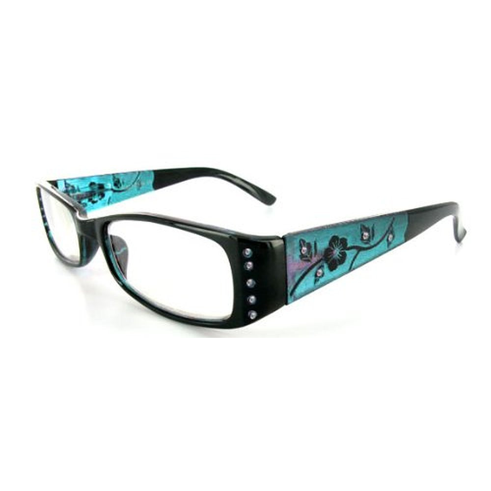"""Wild Hibiscus"" floral designer reading glasses for youthful women with elegance and style. - Aloha Eyes - 3"