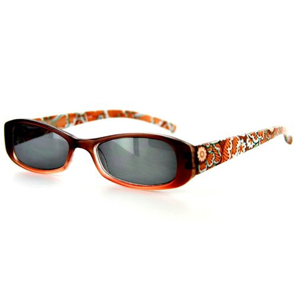"""Sun Orchard"" Fashion Non-Bifocal Reading Sunglasses with Floral Design - Aloha Eyes - 2"